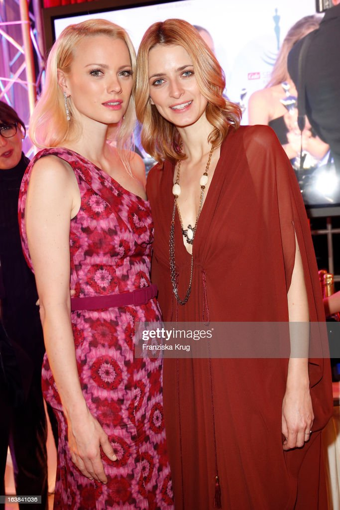 Franziska Knuppe and Eva Padberg attend the Gala Spa Award 2013 at the Brenners Park Hotel on March 16, 2013 in Berlin, Germany.