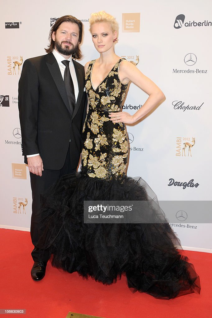 Franziska Knuppe and husband Christian Moestel attend 'BAMBI Awards 2012' at the Stadthalle Duesseldorf on November 22, 2012 in Duesseldorf, Germany.