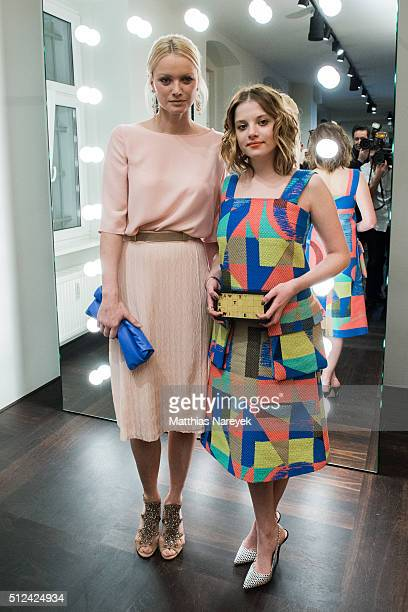 Franziska Knuppe and Jella Haase attend the Kilian Kerner store opening on February 25 2016 in Berlin Germany