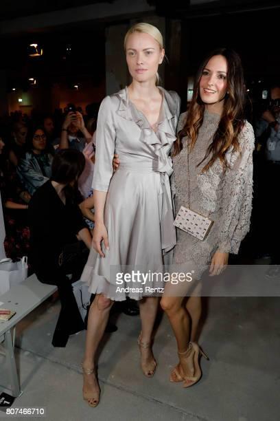 Franziska Knuppe and Johanna Klum attend the Ewa Herzog show during the MercedesBenz Fashion Week Berlin Spring/Summer 2018 at Kaufhaus Jandorf on...