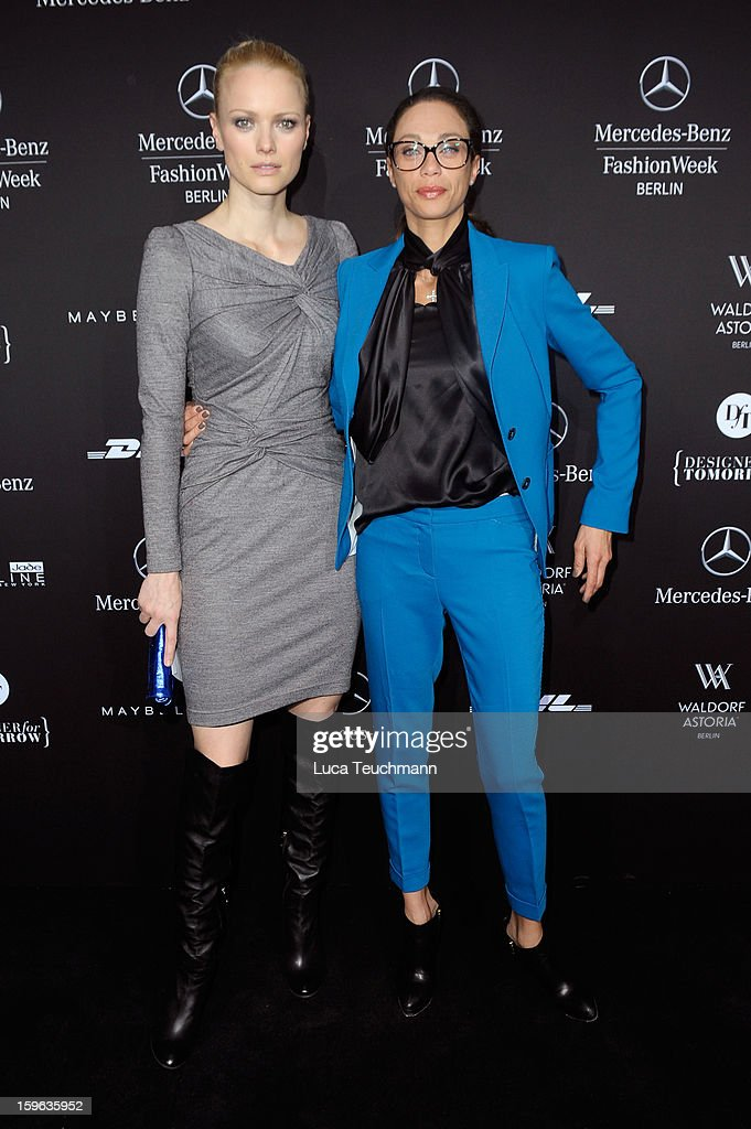 Franziska Knuppe and Lilly Becker attend the Laurel Autumn/Winter 2013/14 fashion show during Mercedes-Benz Fashion Week Berlin at Brandenburg Gate on January 17, 2013 in Berlin, Germany.