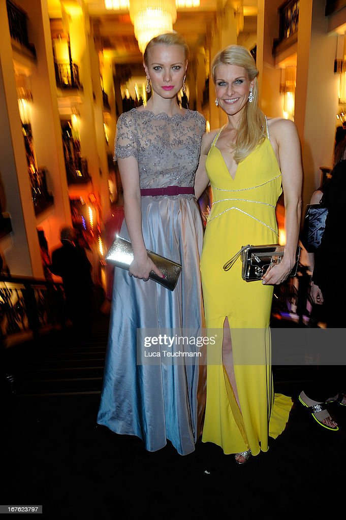 Franziska Knuppe and Natascha Gruen attend the Lola - German Film Award 2013 - Party at Friedrichstadt-Palast on April 26, 2013 in Berlin, Germany.