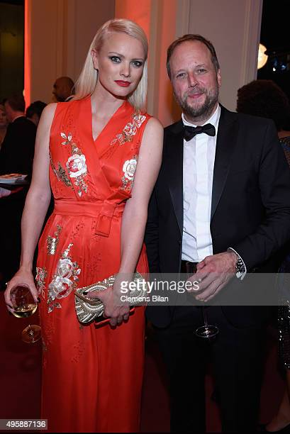 Franziska Knuppe and Smudo attend the GQ Men of the year Award 2015 after show party at Komische Oper on November 5 2015 in Berlin Germany