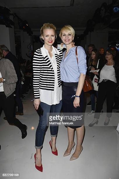 Franziska Knuppe and Susann Atwell attend the 'Key Looks The Show' presented by Fashion ID show during the MercedesBenz Fashion Week Berlin A/W 2017...