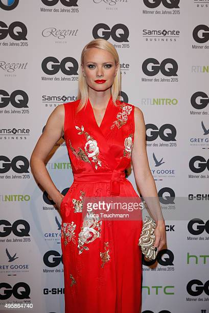 Franziska Knuppe arrives at the GQ Men of the year Award 2015 at Komische Oper on November 5 2015 in Berlin Germany