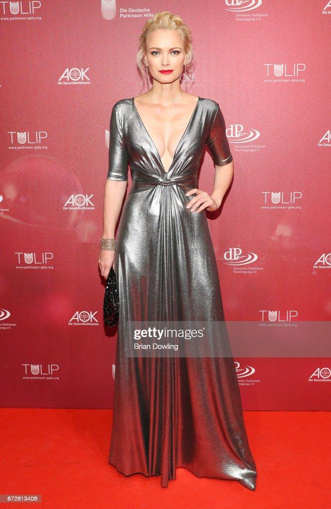 Franziska Knuppe arrives at the TULIP Gala 2017 at Metropolis-Halle on November 11, 2017 in Potsdam, Germany.