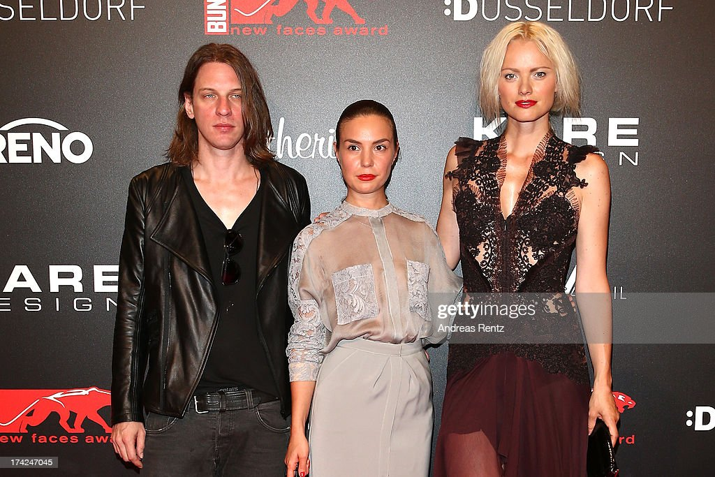 <a gi-track='captionPersonalityLinkClicked' href=/galleries/search?phrase=Franziska+Knuppe&family=editorial&specificpeople=209268 ng-click='$event.stopPropagation()'>Franziska Knuppe</a> (R) attends KARE Design at the New Faces Award Fashion 2013 at Rheinterrasse on July 22, 2013 in Duesseldorf, Germany.