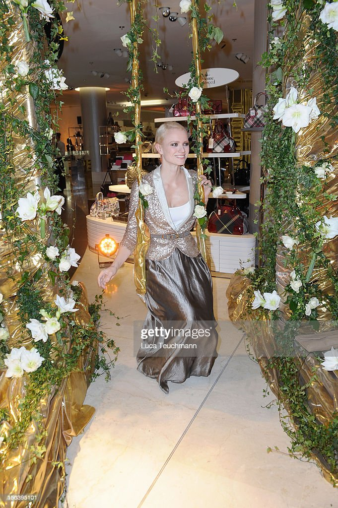 Franziska Knuppe attends Les Galeries Lafayettes Re-Open Ground Floor on November 14, 2012 in Berlin, Germany.
