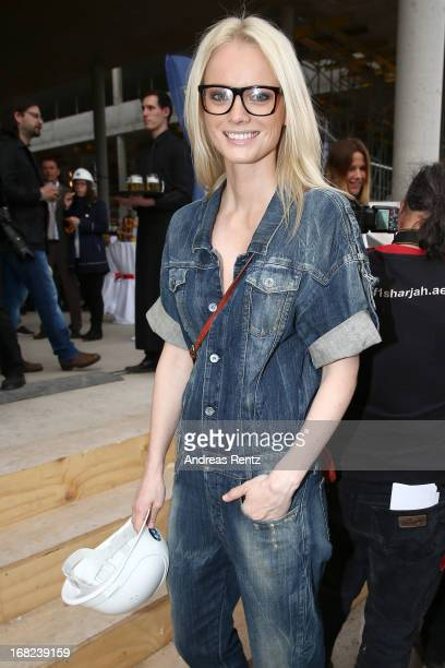 Franziska Knuppe attends roofing ceremony at BMW new Berlin location at BMW Niederlassung Berlin on May 7 2013 in Berlin Germany