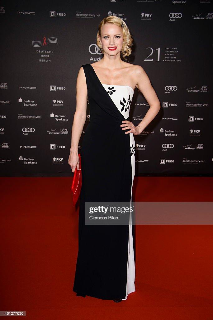 Franziska Knuppe attends the 21st Aids Gala at Deutsche Oper Berlin on January 10, 2015 in Berlin, Germany.