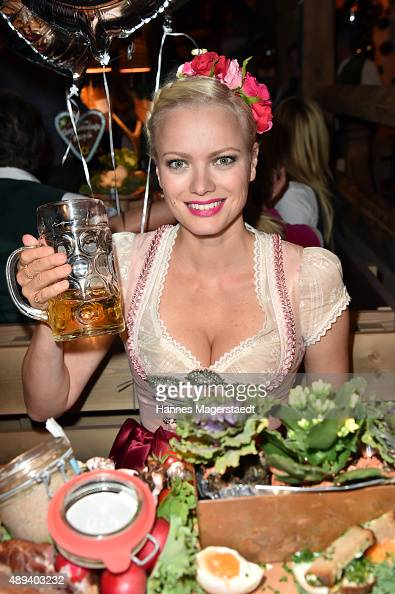 Franziska Knuppe attends the Almauftrieb during the Oktoberfest 2015 at Kaefer Tent on September 20 2015 in Munich Germany