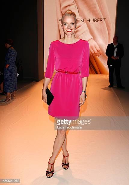 Franziska Knuppe attends the Annelie Schubert presented by MercedesBenz ELLE show during the MercedesBenz Fashion Week Berlin Spring/Summer 2016 at...
