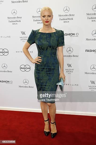Franziska Knuppe attends the 'Designer for Tomorrow' by Peek Cloppenburg and Fashion ID show during the MercedesBenz Fashion Week Berlin...