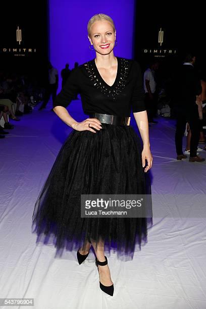 Franziska Knuppe attends the Dimitri show during the MercedesBenz Fashion Week Berlin Spring/Summer 2017 at Erika Hess Eisstadion on June 30 2016 in...