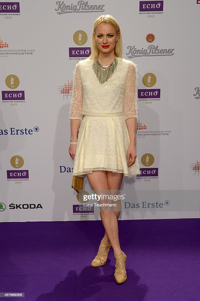 Franziska Knuppe attends the Echo Award 2015 - Red Carpet Arrivals on March 26, 2015 in Berlin, Germany.
