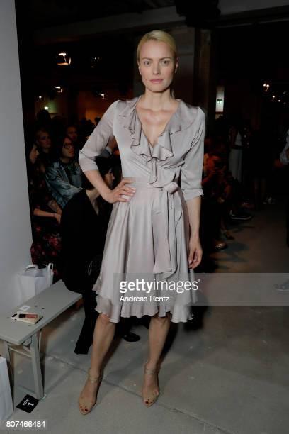 Franziska Knuppe attends the Ewa Herzog show during the MercedesBenz Fashion Week Berlin Spring/Summer 2018 at Kaufhaus Jandorf on July 4 2017 in...