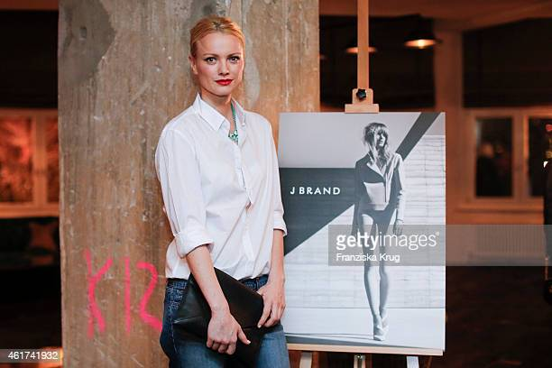 Franziska Knuppe attends the J Brand Cocktail Party At Soho House Berlin on January 18 2015 in Berlin Germany
