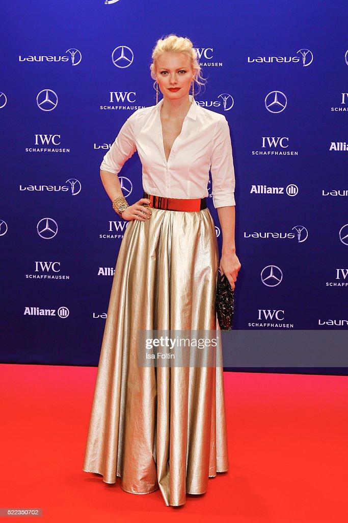 Franziska Knuppe attends the Laureus World Sports Awards 2016 on April 18 2016 in Berlin Germany