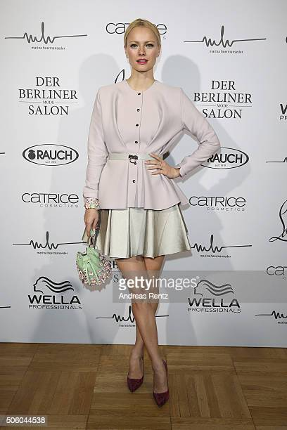 Franziska Knuppe attends the Marina Hoermanseder show as part of Der Berliner Mode Salon during the MercedesBenz Fashion Week Berlin Autumn/Winter...