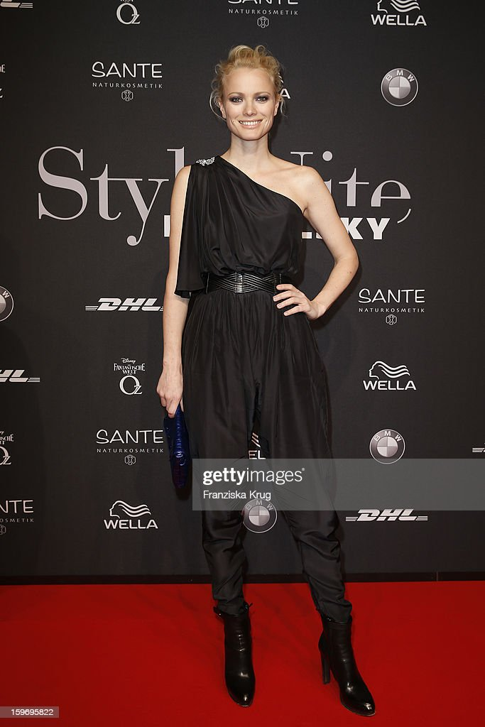 Franziska Knuppe attends the 'Michalsky Style Nite Arrivals - Mercesdes-Benz Fashion Week Autumn/Winter 2013/14' at Tempodrom on January 18, 2013 in Berlin, Germany.