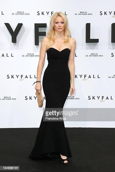 Franziska Knuppe attends the 'Skyfall' Germany Premiere at Theater am Potsdamer Platz on October 30 2012 in Berlin Germany