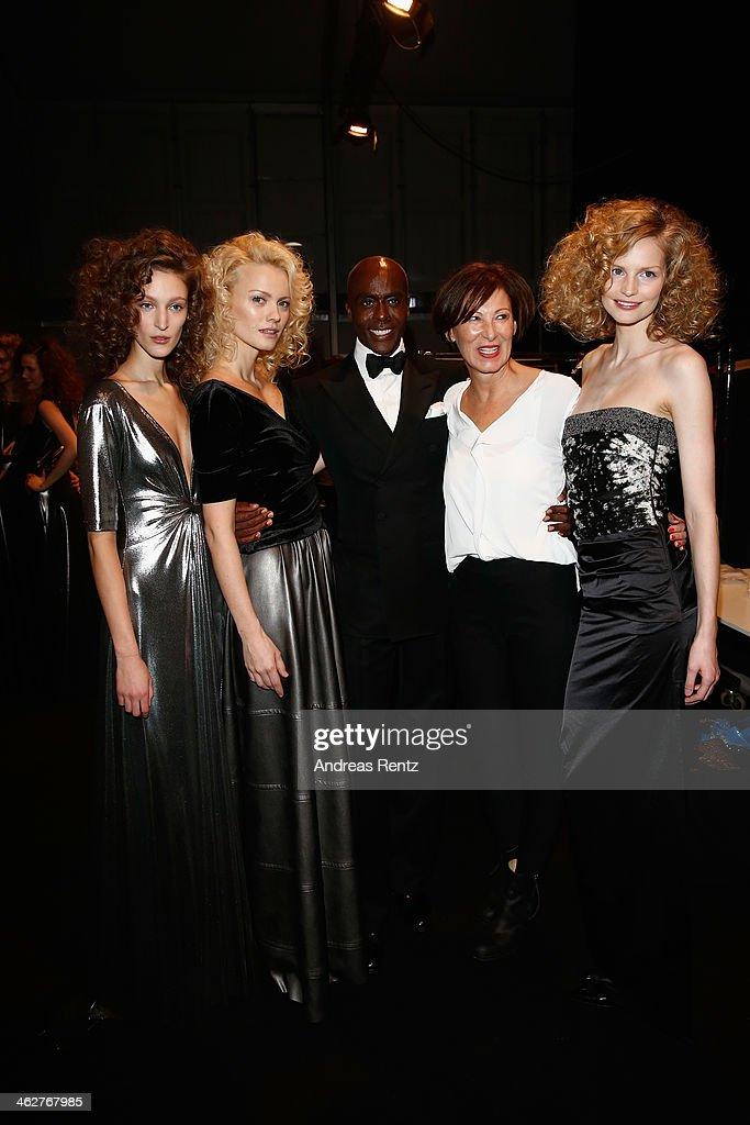 Franziska Knuppe Bruce Darnell Eva Lutz and models attend the Minx by Eva Lutz show during MercedesBenz Fashion Week Autumn/Winter 2014/15 at...