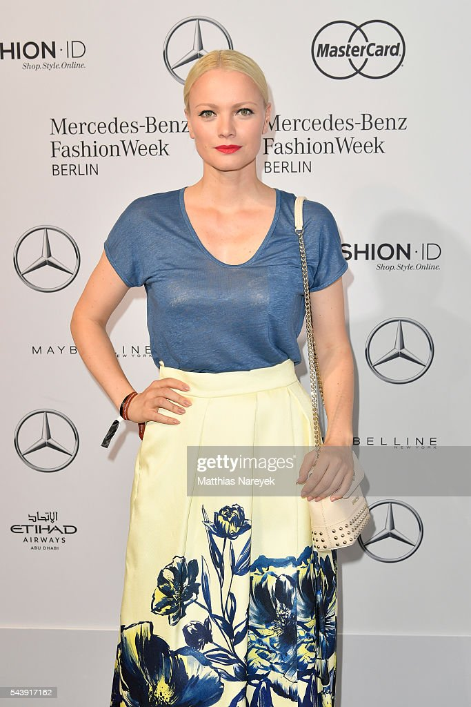 <a gi-track='captionPersonalityLinkClicked' href=/galleries/search?phrase=Franziska+Knuppe&family=editorial&specificpeople=209268 ng-click='$event.stopPropagation()'>Franziska Knuppe</a>, dressed by Peek & Cloppenburg, attends the 'Designer for Tomorrow' show during the Mercedes-Benz Fashion Week Berlin Spring/Summer 2017 at Erika Hess Eisstadion on June 30, 2016 in Berlin, Germany.