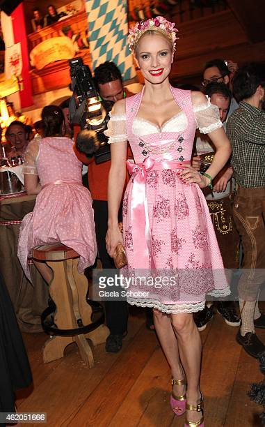 Franziska Knuppe during the Weisswurstparty at Hotel Stanglwirt on January 23 2015 in Going Austria
