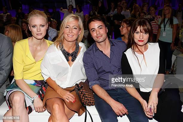 Franziska Knuppe Judith Milberg Nikolai Kinski and Ina Paule Klink attend the Laurel show during the MercedesBenz Fashion Week Spring/Summer 2015 at...
