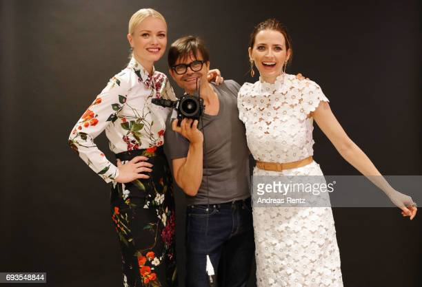 Franziska Knuppe Kristian Schuller and Eva Padberg attend the preopening party 'Saks OFF 5TH' at Carsch Haus on June 7 2017 in Duesseldorf Germany