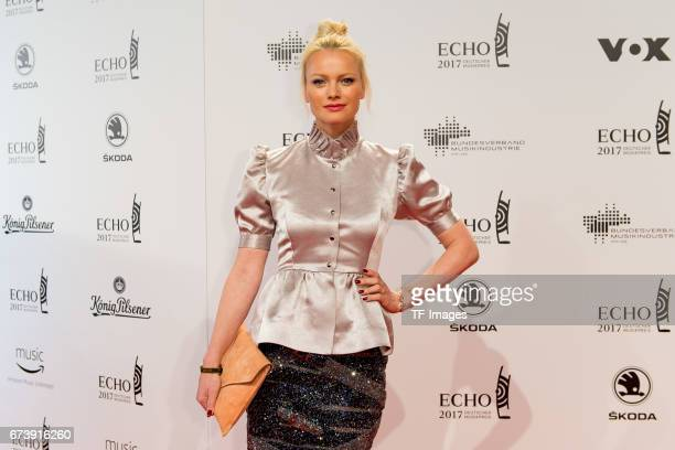 Franziska Knuppe on the red carpet during the ECHO German Music Award in Berlin Germany on April 06 2017