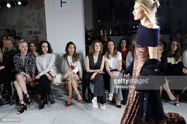 Franziska Knuppe Stephanie Stumph Gizem Emre Chiara Schoras Alexandra Neldel Sonja Gerhardt and Alice Dwyer attend the Laurel show during the...