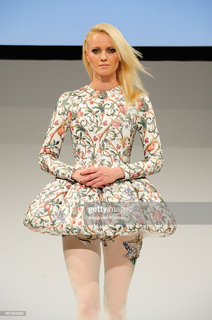 Franziska Knuppe walks the runway at the Deichmann Shoe Step of the Year 2013 at Curio Haus on November 7, 2013 in Hamburg, Germany.