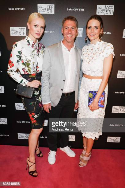 Franziska Knuppe Wayne Drummond and Eva Padberg attend the preopening party 'Saks OFF 5TH' at Carsch Haus on June 7 2017 in Duesseldorf Germany