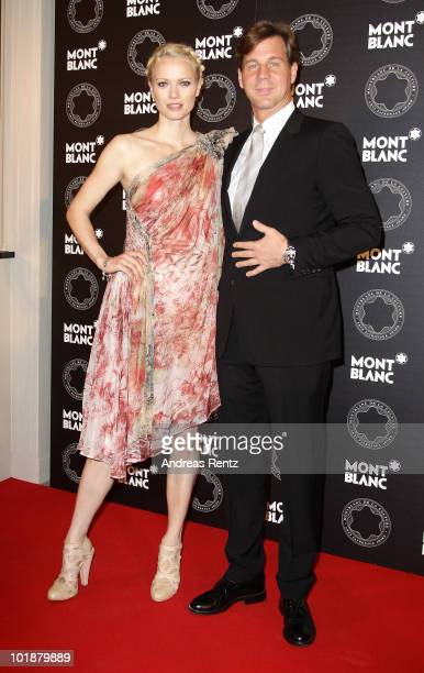 Franziska KnuppeMoestl and Thomas Heinze attend the Montblanc De La Culture Arts Patronage Award 2010 at Hotel de Rome on June 8 2010 in Berlin...