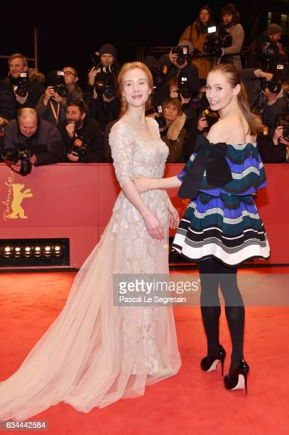 Franziska Petri and Alina Levshin attend the 'Django' premiere during the 67th Berlinale International Film Festival Berlin at Berlinale Palace on...