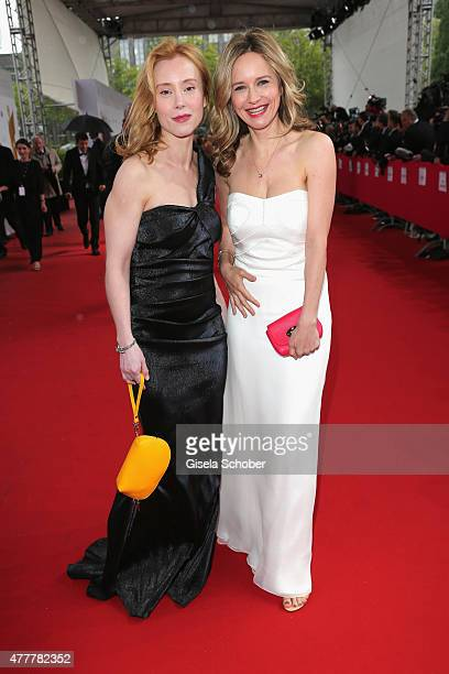 Franziska Petri and Stefanie Stappenbeck and arrives for the German Film Award 2015 Lola at Messe Berlin on June 19 2015 in Berlin Germany