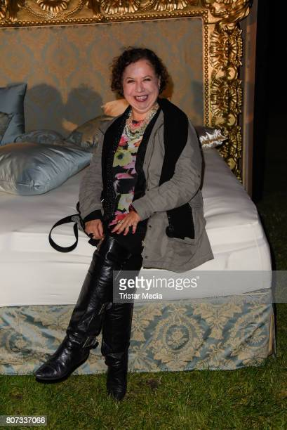 Franziska Traub attends the Fashion Week Berlin Opening Night With Dandy Diary And Harald Gloeoeckler at Insel der Jugend on July 3 2017 in Berlin...
