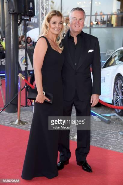 Franziska van Almsick and boyfriend Juergen B Harder attend the Radio Regenbogen Award 2017 at EuropaPark on April 7 2017 in Rust Germany