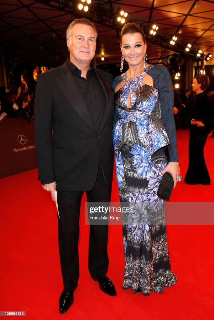 Franziska van Almsick and Juergen B Harder attend the 'BAMBI Awards 2012' at the Stadthalle Duesseldorf on November 22 2012 in Duesseldorf Germany
