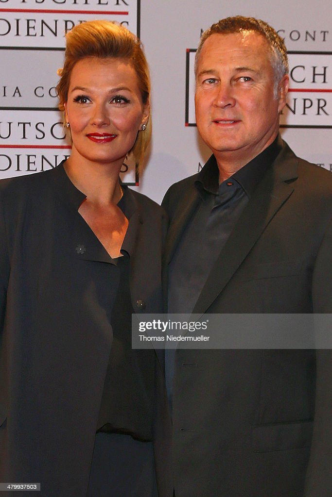 Franziska van Almsick and Juergen B Harder attend the German Media Award on March 21 2014 in BadenBaden Germany The German Media Awards was created...