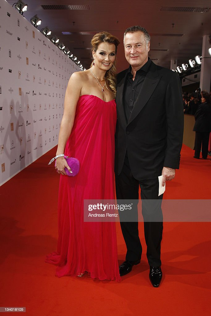 Franziska van Almsick and Juergen Harder attend the Bambi Award 2011 at the RheinMainHallen on November 10 2011 in Wiesbaden Germany