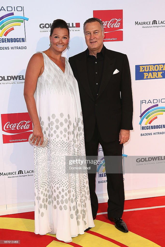 Franziska van Almsick and Juergen Harder attend the Radio Regenbogen Award 2013 at Europapark on April 19 2013 in Rust Germany