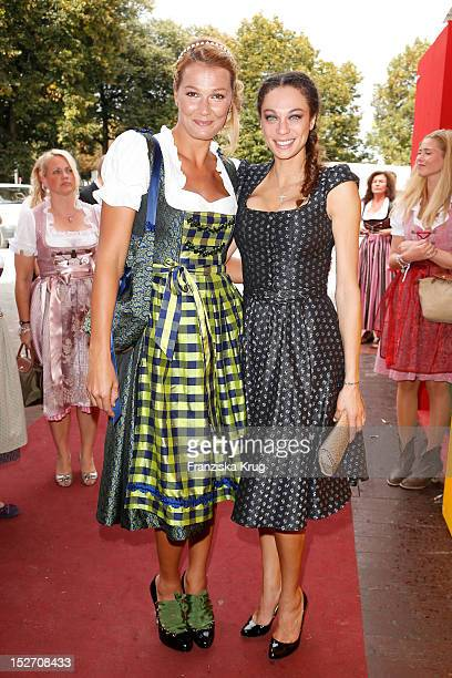 Franziska van Almsick and Lilly Becker attend the 'Sixt Damenwiesn' as part of the Oktoberfest beer festival at Hippodrom beer tent on September 24...