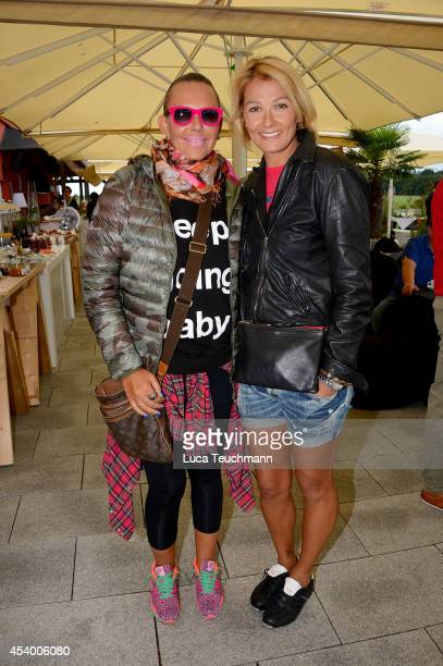 Franziska van Almsick and Natascha Ochsenknecht attend the 7th GRK Golf Charity Masters Leipzig on August 23 2014 in Leipzig Germany