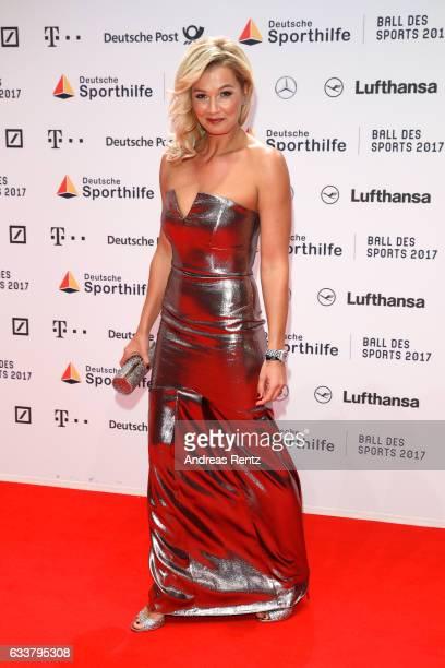 Franziska van Almsick attends the German Sports Gala 'Ball des Sports 2017' on February 4 2017 in Wiesbaden Germany