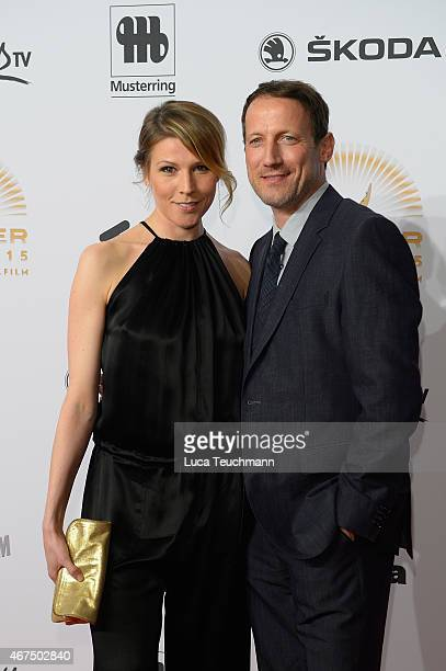 Franziska Weiss and Wotan Wilke Moehring attend the Jupiter Award at Cafe Moskau on March 25 2015 in Berlin Germany