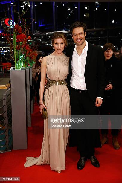 Franziska Weisz and Felix Herzogenrath attend the 'Nobody Wants the Night' Opening Night premiere during the 65th Berlinale International Film...