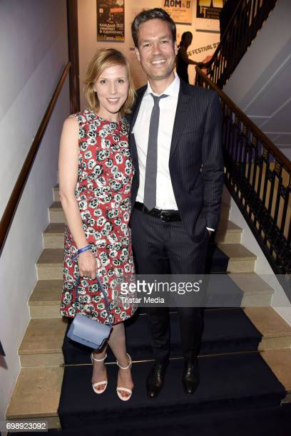 Franziska Weisz and her husband Felix Herzogenrath attend the Studio Hamburg Nachwuchspreis 2017 at Thalia Theater on June 20 2017 in Hamburg Germany