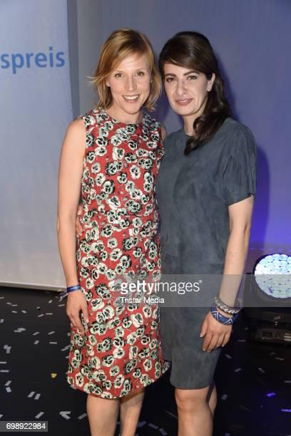 Franziska Weisz and Linda Zervakis attend the Studio Hamburg Nachwuchspreis 2017 at Thalia Theater on June 20 2017 in Hamburg Germany